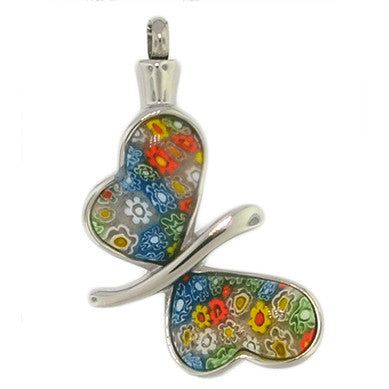 Large Colored Butterfly Cremation Pendant | Vision Medical