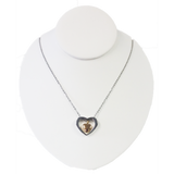 Heart within a Heart Cremation Pendant