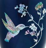Hummingbird on Blue Mother of Pearl