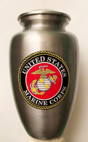 """Our Hero -US Marine Corps"" Cremation Urn 