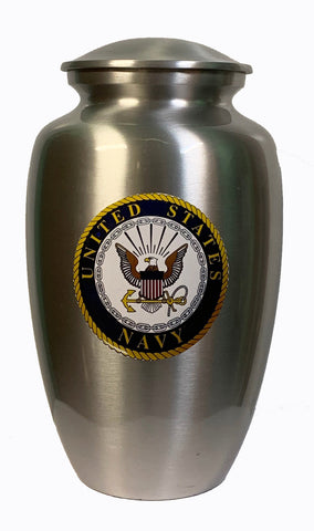 """Our Hero - Navy"" Cremation Urn  