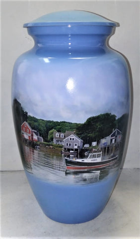 New England on the Water Themed Cremation Urn | Nautical Urn | Ocean Urn | Vision Medical