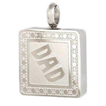 Stainless Steel Dad Cremation Pendant | Vision Medical