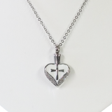 Stainless Steel Sacred Heart Cremation Pendant