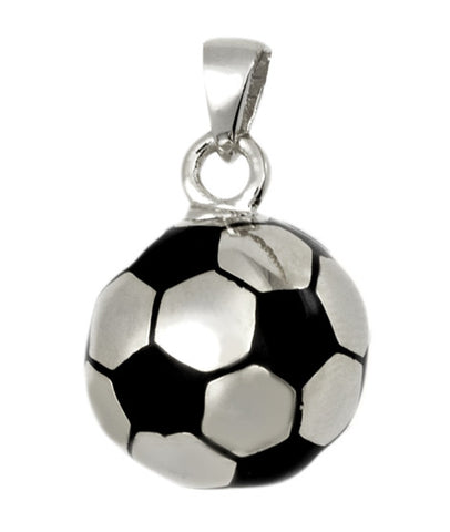 Sterling Silver Soccer Ball Cremation Pendent | Vision Medical