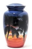 Palms at Sunset | Tropical Themed Cremation urn | Vision Medical
