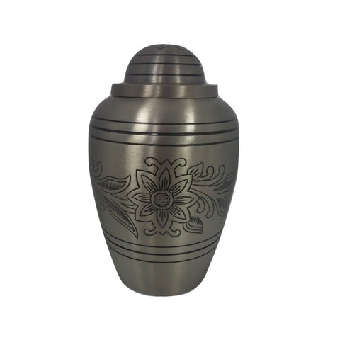 Cremation Urn - Pewter Bouquet