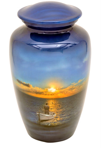 Fisherman's Heaven Cremation Urn | Fishing urn | Fisherman Urn