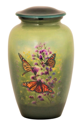 3 Monarch's Pleasure | Butterfly Themed Cremation Urn | Vision Medical