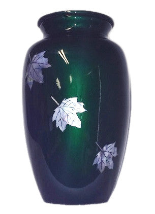 Mother of Pearl Falling Leaves Cremation Urn | Vision Medical