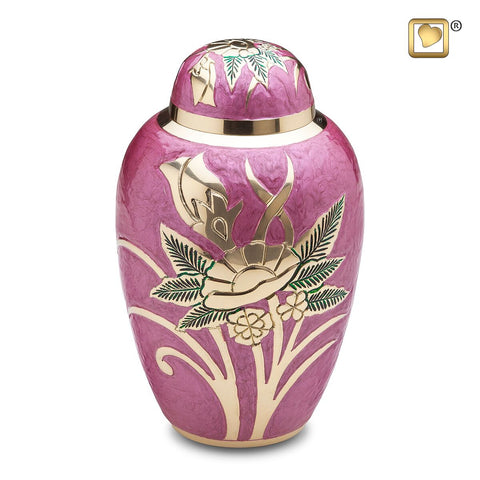 Lilac Rose Cremation Urn from LoveUrns | Vision Medical