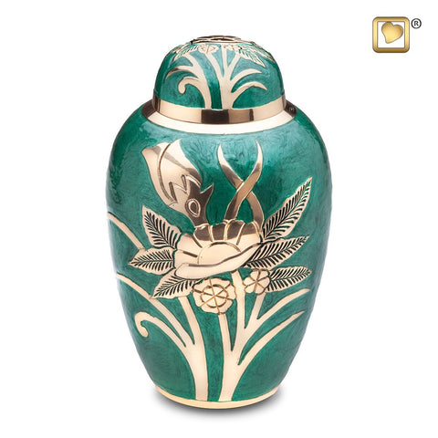 Emerald Rose Cremation Urn by LoveUrns | Vision Medical