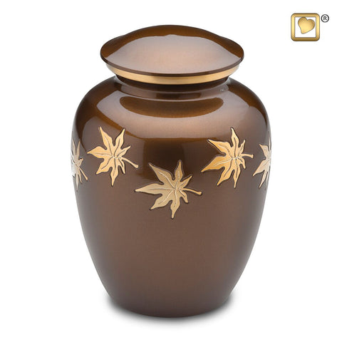 Divine Autumn Leaves Cremation Urn from LoveUrns | Vision Medical