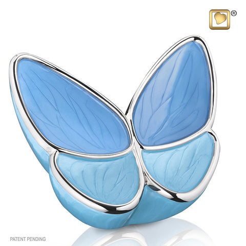 Blue Wings of Hope Butterfly Cremation Urn | Themed Butterfly Cremation Urn | Love Urns