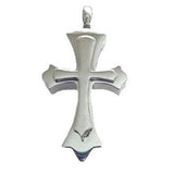 Stainless Steel Stacked Cross Cremation Pendent