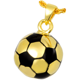 Gold Soccer Ball Cremation Pendent | Vision Medical