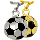 Sterling Silver or Gold Soccer Ball Cremation Pendent | Vision Medical