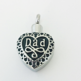 Stainless Steel Dad Stainless Steel Cremation Pendant