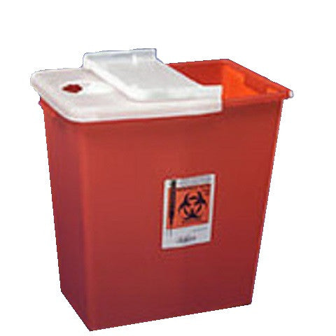 Sharps Container- 8 Gallon- Hinged Lid