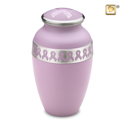 Awareness Pink Cremation Urn from LoveUrns | Cancer Awareness Urn Vision Medical