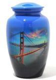 "Cremation Urn | ""I left My Heart"" 