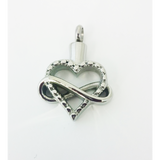 Cremation Jewelry | Stainless Steel Infinity Heart Cremation Pendant | Vision Medical