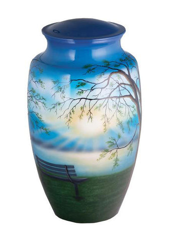 Lakeside Memories Hand Painted Cremation Urn | Vision Medical
