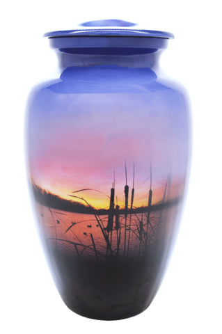 Sunrise on the Water Cremation Urn | Vision Medical