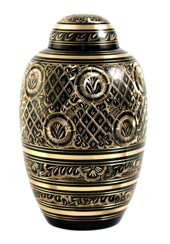 Black Radiance Cremation Urn | Value Urn | Low Cost Urn