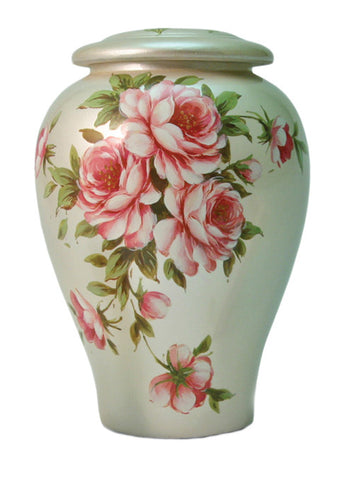Rose Bouquet Ceramic Cremation Urn