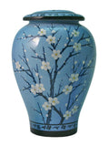Plum Blossom Ceramic Cremation Urn