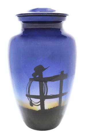 Cowboy Farewell Cremation Urn | Themed western Cremation Urn | Themed Cowboy Cremation Urn