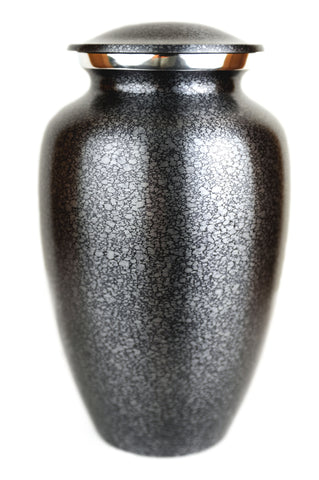 Specked Steel Gray Adult Cremation Urn | Vision Medical
