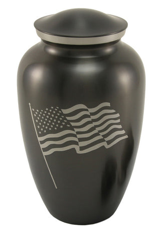 Slate Classic Flag Cremation Urn | Vision Medical