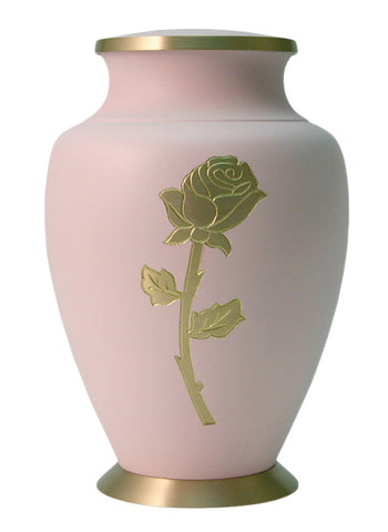 Aria Rose (Pink on Gold) Cremation Urn | Vision Medical