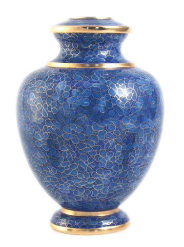 Terrybear Essence Azure Cloisonne Cremation Urn | Vision Medical