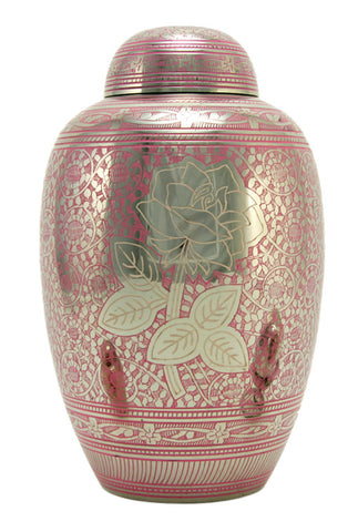 Pink Rose Cremation Urn | Vision Medical