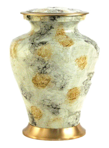 Glenwood White Marble Cremation Urn | Vision Medical