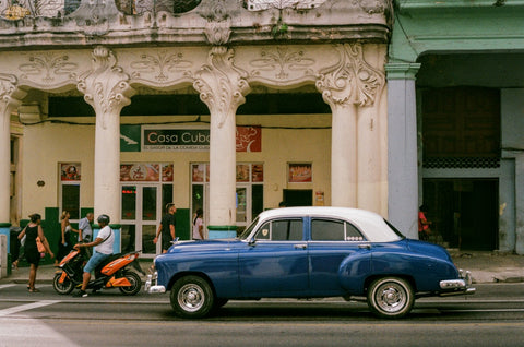 havana cuba classic american car analogue film
