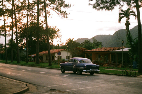 vinales cuba street car analogue film