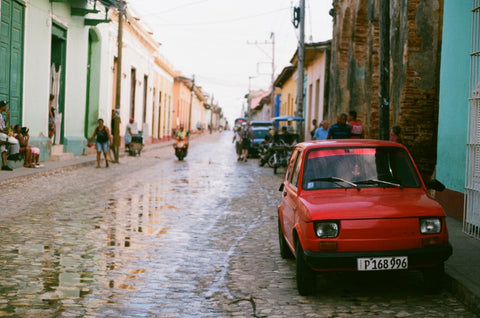 trinidad cuba car analogue film
