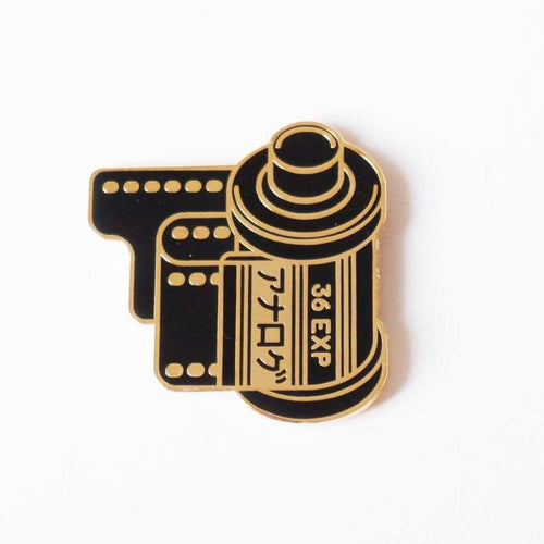 Analog Is Different 35mm Film Canister Enamel Pin-Film Bros