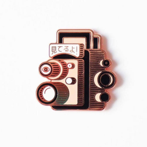 Analog Is Different TLR Camera Enamel Pin - film-bros