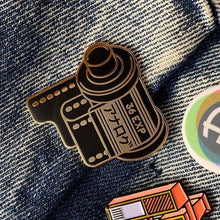 Load image into Gallery viewer, Analog Is Different 35mm Film Canister Enamel Pin - film-bros