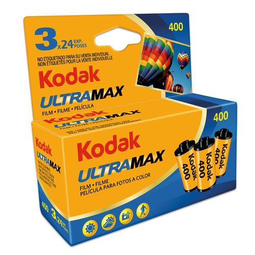 Kodak UltraMax 400 35mm Film (24exp) 3 Pack-Film Bros