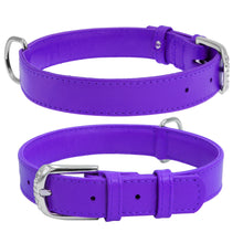Load image into Gallery viewer, Violet Glamour Leather Dog Collar