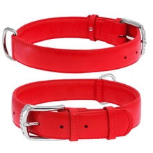 Load image into Gallery viewer, Red Glamour Leather Dog Collar
