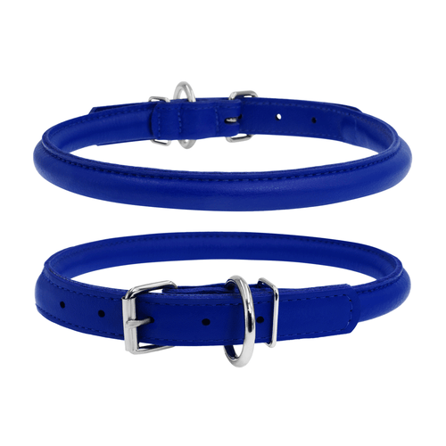 Glamour Dark Blue Round Dog Collar