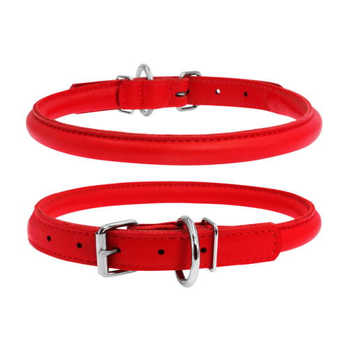 Glamour Red Round Dog Collar