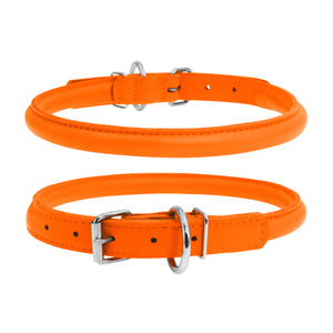 Glamour Orange Round Dog Collar